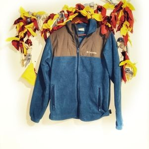 Blue and Grey fleece Columbia zipper up